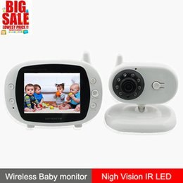 3.5 inch color LCD monitor Video Wireless Baby Monitor Security Camera 2 Way Talk Nigh Vision IR LED Temperature Monitoring