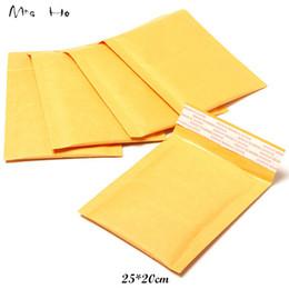 Descuento burbuja de papel kraft Venta al por mayor 25 * 20cm Pequeño Fabricante Kraft bolsas de burbuja anuncios publicitarios de los sobres acolchados de papel Mailer de correo Bolsa PP609