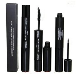 Wholesale Makeup in Waterproof Mascara Liquid Eye Liner Thick Curling Eyelashes Macara And Liquid Eyeliner