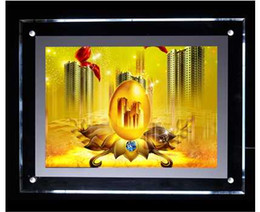 FREE SHIPPING Factory Outlet A4 Crystal light box, A4 size photo LED light box without frame, acrylic light box