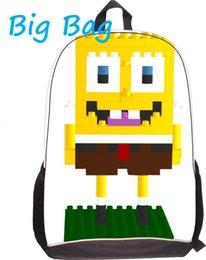 Wholesale Children School Bags Kids Backpacks SpongeBob Printing School Bag High Quality School Backpacks for Teenagers Boys