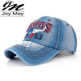 Wholesale Joymay New Texas Bull Summer Baseball Caps for Men Snapback Caps Women Casual Outdoor Sport Adjustable Letters Hats B259