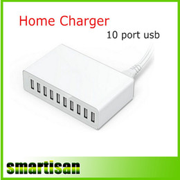 Portable 10 Ports USB Charger Smart USB Charging Station Fast charger For iPhone iPad Samsung LG HTC Sony Mobile phone
