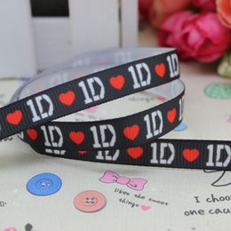 """3 8"""" 9mm 1D Lovely Black Printed Grosgrain Ribbon Apparel Party Gift Wrapping Event Deco DIY Accessories Famous A2-9-124"""