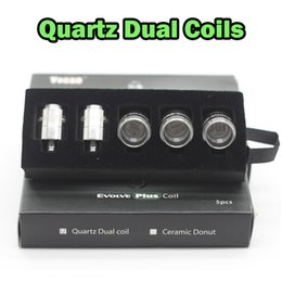 Wholesale Authentic Yocan Evolve Plus QDC Coils Quartz Dual Coil Replacement Coils For Yocan Cerum NYX Torch Vaporizer pack QDC Fast Shipping