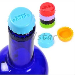 Hot Sale New idea Soft Silicone Bottle Cap Wine Beer Savers cover For Kitchen & Bar mix color DHL Free