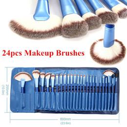 Pro 24PCS Synthetic Cosmetic Makeup Brushes Kit Face Blush Lip Kabuki Brush MULTIPURPOSE pincel maquiagem Tools