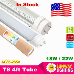 Wholesale Stock In Los Angeles New Jersey Cree T8 Led Tube lights ft m W SMD2835 Led Fluorescent Lamp AC85 V