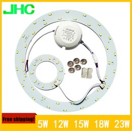 Wholesale 50pcs lpts PROMOTION W SMD Ceiling Circular Magnetic Light Lamp V AC220V Round Ring LED Panel board with Magnet