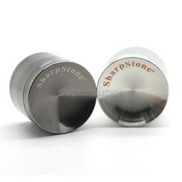 Wholesale 1 mm Concave Grinder with sharpstone logo Metal Grinder Pieces Tabacco Grinder Concave Surface Zinc Alloy vs sharpstone grinders