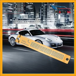 Wholesale The Newest Temporary Car Parking Card Telephone Number Card With Sucker Plate And Night Light Card