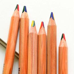 15pcs lot 4 in 1 Rainbow Color Pencils Colored Pencil Drawing Pen Color Pencil Stationery School Office Supplies Material Escolar