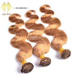 Wholesale Beat Selling A Brazilian Body Wave Human Hair Bundles Honey Blonde Virgin Human Hair Extensions Pure Color Body Wave Brazilian Natural Hair