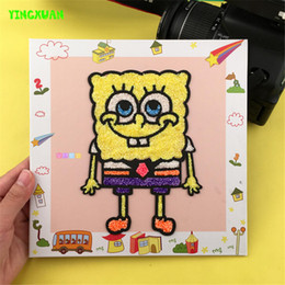 Wholesale 2016 New Colorful Snow Mud Painting Picture Frame Creative DIY Toys for Kids Girls Educational Drawing