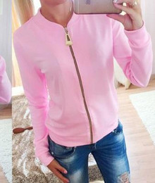Woman Jacket Spring And Autumn 2016 Solid Long Sleeve New Fashion Women Jacket Zipper Women Clothes coat