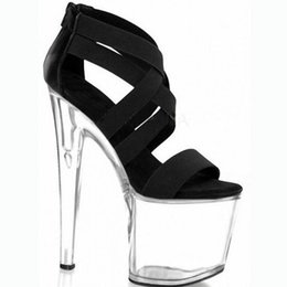 Customize Woman Sandals Extreme High Heel 20cm Heel With Platform Sexy Fetish Thin Heel Platform Sexy Fetish Sandals D0186