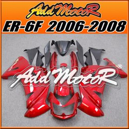 Wholesale Best Choice Fairings Addmotor NewDesign Compression Mold ABS For Kawasaki Ninja R ER F Red K6621 Free Gifts Best Sale
