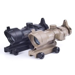 Wholesale ACOG Type x32 Red and green Dot Sight With Scope With QD Mount for aimpoint hunting Rifle Scope
