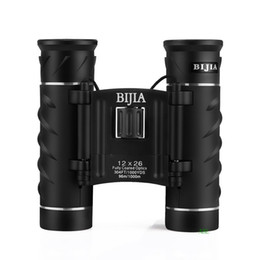BIJIA 12X Waterproof Binoculars 12x26 Portable HD Telescope 100% Original High Quality Low Light Night Vision With Package Free Shipping