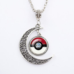 2016 New poke go Gemstone Pendant Necklaces Wholesale poke go for man and women and baby Fashion Jewelry Lots