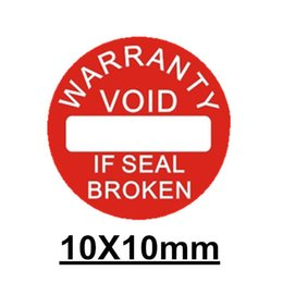 Wholesale 500pcs Diameter mm Warranty sealing label sticker void if seal broken damaged Universal with years and months for