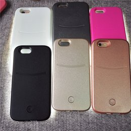Wholesale 2016 Hot LED Flash light Case Selfie Phone Back Cover Shell Cases Illuminated For iphone S plus Galaxy S6 S7 Edge DHL