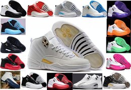 Wholesale Retro XII Basketball Shoes s OVO white GS Basketball Shoes Women Men TAXI Flu Game Playoffs flint grey French Blue Sneakers