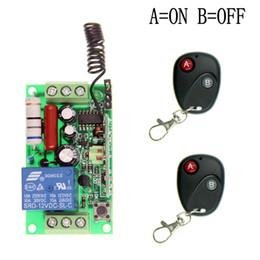 2017 control remoto 315 Al por mayor-220V AC 110V 1 CH 1 canal de interruptor del sistema de control remoto inalámbrico RF, 315 / 433.92 2X transmisores y el receptor, por pulsos (A-ON, B-OFF) control remoto 315 outlet