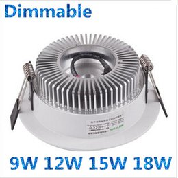 New Arrival 9W 12W 15W 18W Dimmable Led Downlights Recessed Lamp 150 Angle Warm Cool White Led Ceiling Light 110-240V Silver White Body