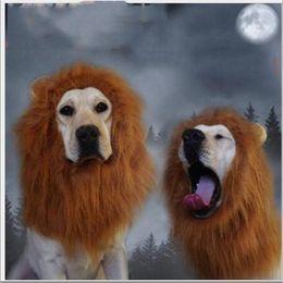 Большие костюмы для собак Онлайн-Украшения для волос Pet костюм кошки Хэллоуина Одежда Костюмированный Up Lion Mane парик для больших собак