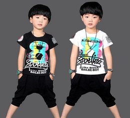 Hot Sale Summer Kids Boys T Shirt Shorts Set Children Short Sleeve Shirt Clothing Set Kids Boy Sport Suit Outfit
