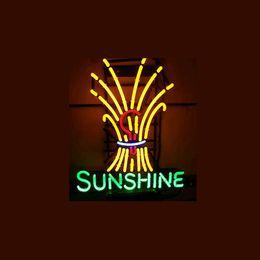 SUNSHINE Real Glass Neon Light Sign Home Beer Bar Pub Recreation Room Game Room Windows Garage Wall Sign