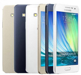 Refurbished Original Samsung Galaxy A3 A3000 A300F Unlocked Cell Phone MSM8916 Quad Core 8GB 16GB 8MP 4.5 inch 4G LTE