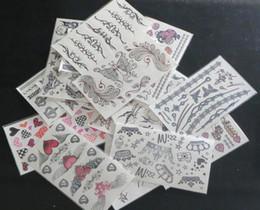 30Pcs 9.5*17cm Temporary Tattoos Face& Body Tattoo Sticker Mixed Type Lips Body Temporary Tattoos