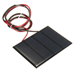 Wholesale Hot Sale V W MAh Polycrystalline silicon Solar Panel PV module Mini Solar Cells Battery Phone charger with Welding Wire