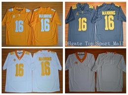 Wholesale Tennessee Volunteers College Peyton Manning Football Jerseys Men Orange Gray White Team Color Fashion Embroidery And Sewing Logo