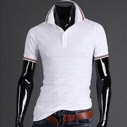 Men's T-Shirts Men's Slim Fit Stylish Short Sleeve Slim Fit T Shirts olive leaf Embroidery Casual T-shirts free shipping