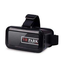 Wholesale VR PARK V2 Virtual Reality D Glasses Google VR GLASSES D Movie for quot quot Smart Phone DHL free