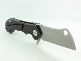 Wholesale Samier Knives High Quality Custom RAD Field Cleaver Folding Knife Stonewash D2 Blade Black Titanium Handle Tactical Knife Survival Tools EDC