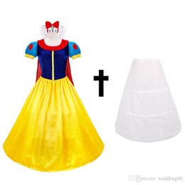 Wholesale Snow Women Xxl - Theme Costume Cosplay Snow White Princess Long Dress Fantasia The Fairy Tale Movie Role Halloween Dancing Party Clothing Female