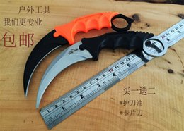 Wholesale Top quality New ICE TEK claw karambit claw Fixed balde knife OEM DART C Blade HRC Tactical knife camping knife
