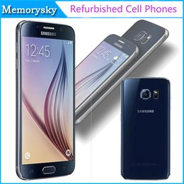 Wholesale Original Refurbished Samsung Galaxy S6 Octa Core GB RAM GB ROM Unlocked Cell Phone MP ATT T mobile Sprint Verizon black white gold