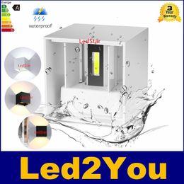 Promotion dans la lumière conduit 6w 6W 10W LED Applique Mounted Surface intérieure Cube mur LED Blanc / Noir Up And Down Wall Light Éclairage d'intérieur Support de lampe