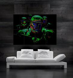 Daft Punk dj Robots Poster print wall art 8 parts giant huge Poster print art free shipping NO4-522