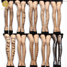 2017 jambes sexy bas Grossiste-TATTOO PATTERN TIGHTS - 20D Femmes Design Mode Fantaisie Mignon Sexy Leg Faux Impression Sheer Nude Thin Spandex Collants Collants jambes sexy bas sortie