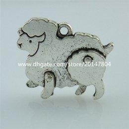 Charmes de chèvre à vendre-14025 10PCS en alliage de Vintage Silver Tone mini moutons de chèvre Pendentif Pendentif Animal