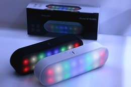 Wholesale BT808NL Pill XL Speaker Wireless Bluetooth Mini Portable Speaker Music Player With LED Light Flash Retail Box BT808L