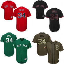 Wholesale Green red grey white Celtic David Ortiz Authentic Jersey Men s Majestic Boston Red Sox Flexbase Collection