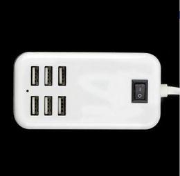 Wholesale Universal US Eu stecker AC V A Ports USB Desktop Wand Reise ladegerät Power Adapter Für iPhone Für Samsung Für Sony Für LG PC