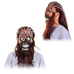 Wholesale Halloween Mask Masquerade for Adult Hair Beard Eye Devil Mask Fashion Mask Terror Mask Scary Horror Cosplay Makeup Party Costume